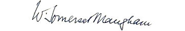 Image: William Somerset Maugham's signature